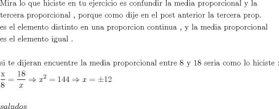 Tercera proporcional - Foro fmat.cl