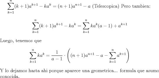 Sumatoria con exponencial - Foro fmat cl